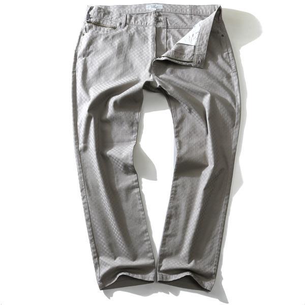 大きいサイズ メンズ DANIEL DODD 市松織柄 5ポケット テーパード パンツ 651-d209001 緊急セール