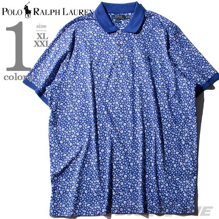 大きいサイズ メンズ POLO RALPH LAUREN ポロ ラルフローレン 総柄 鹿の子 半袖 ポロシャツ USA直輸入 710781413