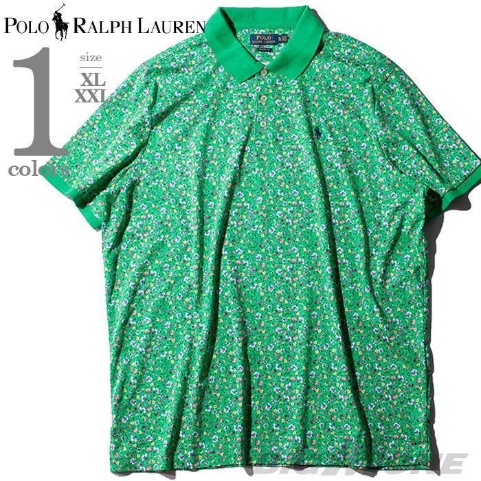 ブランドセール 大きいサイズ メンズ POLO RALPH LAUREN ポロ ラルフローレン 総柄 鹿の子 半袖 ポロシャツ USA直輸入 710781414