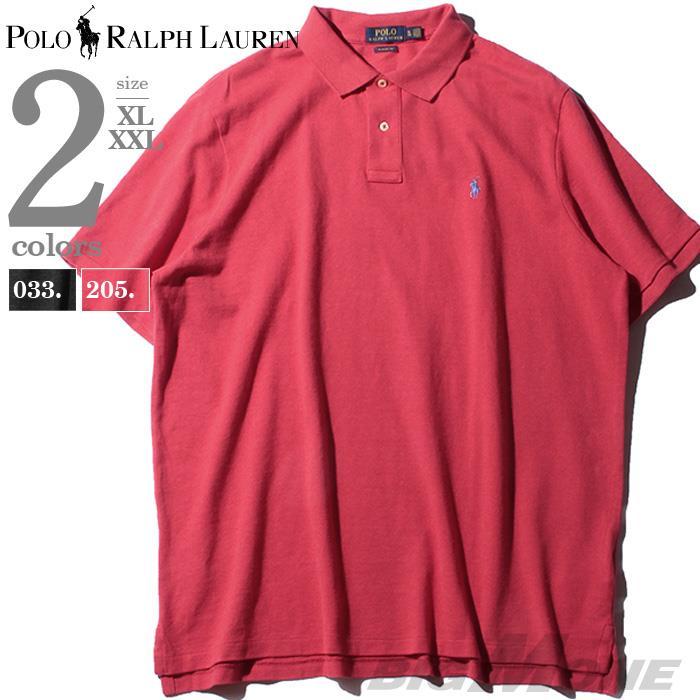 大きいサイズ メンズ POLO RALPH LAUREN ポロ ラルフローレン ロゴ 鹿の子 半袖 ポロシャツ USA直輸入 710534735