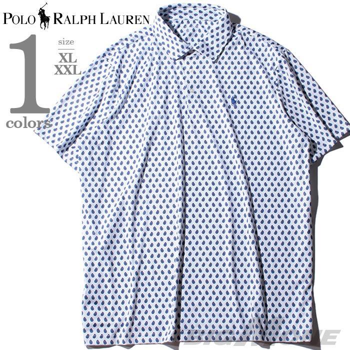 大きいサイズ メンズ POLO RALPH LAUREN ポロ ラルフローレン 総柄 半袖 ポロシャツ USA直輸入 710777462