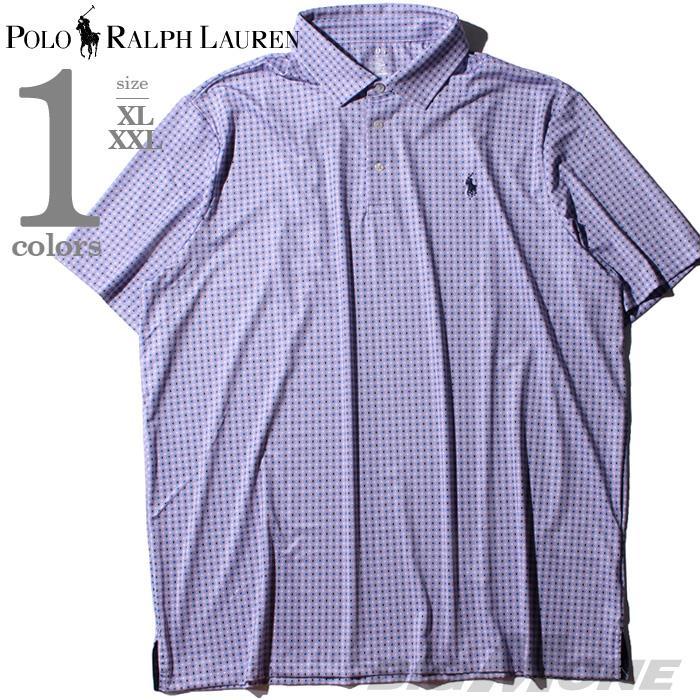 ブランドセール 大きいサイズ メンズ POLO RALPH LAUREN ポロ ラルフローレン 総柄 半袖 ポロシャツ USA直輸入 710777464