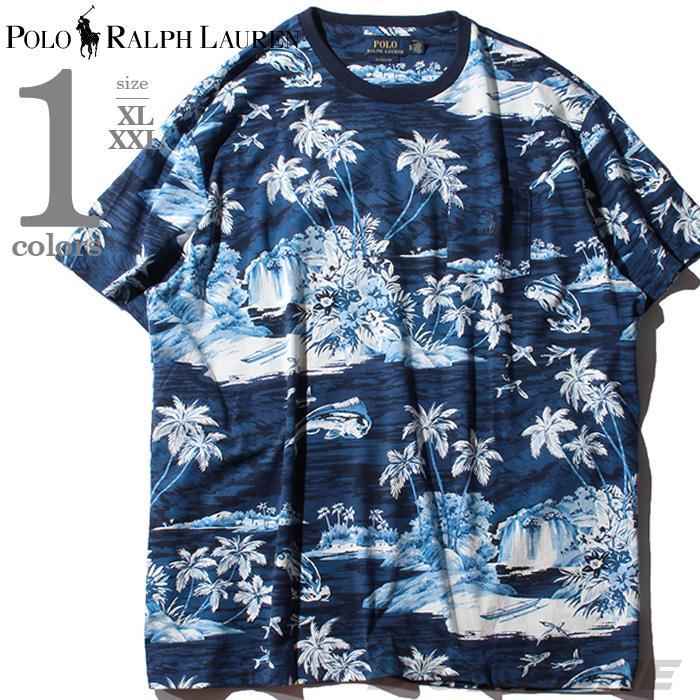大きいサイズ メンズ POLO RALPH LAUREN ポロ ラルフローレン 総柄 半袖 Tシャツ USA直輸入 710765434