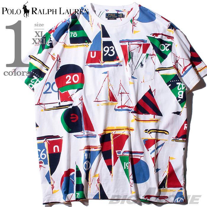 ブランドセール 大きいサイズ メンズ POLO RALPH LAUREN ポロ ラルフローレン 総柄 半袖 Tシャツ USA直輸入 710765435