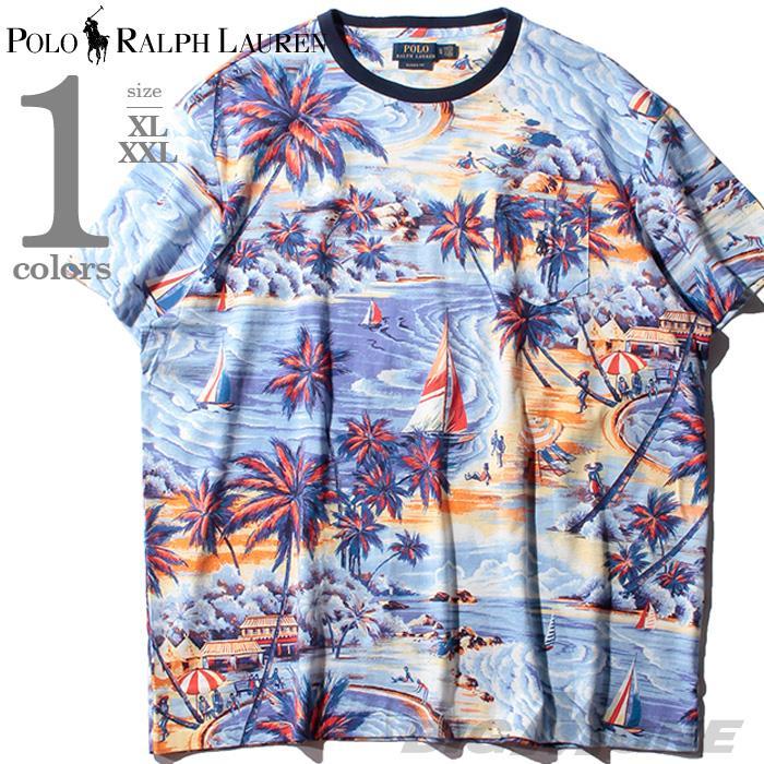 大きいサイズ メンズ POLO RALPH LAUREN ポロ ラルフローレン 総柄 半袖 Tシャツ USA直輸入 710765436
