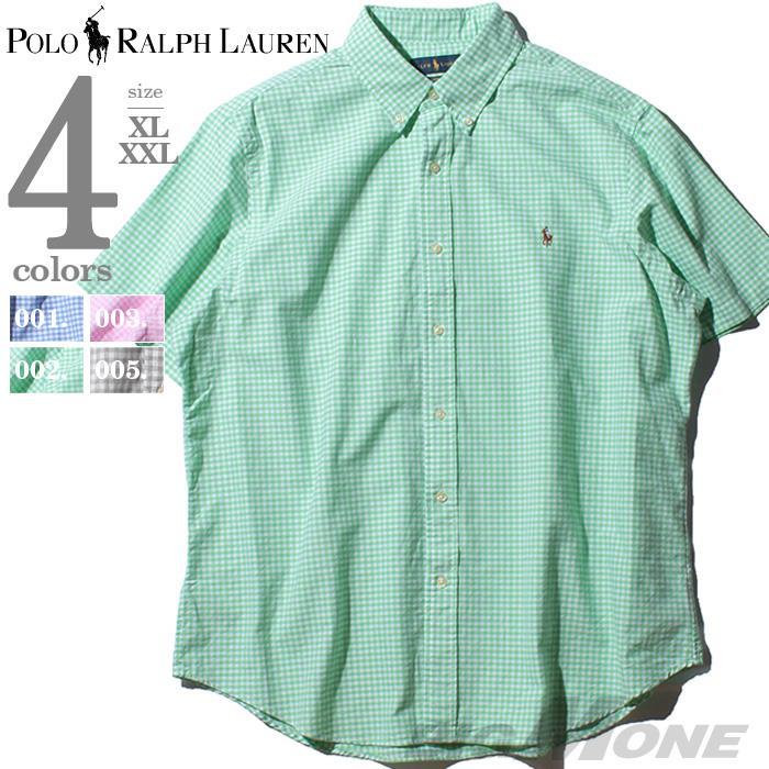 ブランドセール 大きいサイズ メンズ POLO RALPH LAUREN ポロ ラルフローレン チェック柄 半袖 ボタンダウン シャツ USA直輸入 710776782