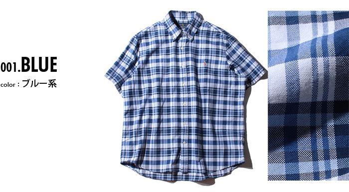 ブランドセール 大きいサイズ メンズ POLO RALPH LAUREN ポロ ラルフローレン チェック柄 半袖 ボタンダウン シャツ USA直輸入 710777158