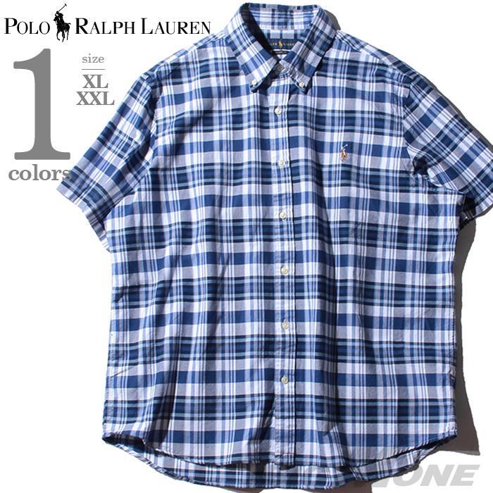 大きいサイズ メンズ POLO RALPH LAUREN ポロ ラルフローレン チェック柄 半袖 ボタンダウン シャツ USA直輸入 710777158