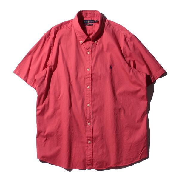 ブランドセール 大きいサイズ メンズ POLO RALPH LAUREN ポロ ラルフローレン 半袖 無地 ボタンダウン シャツ USA直輸入 710784554