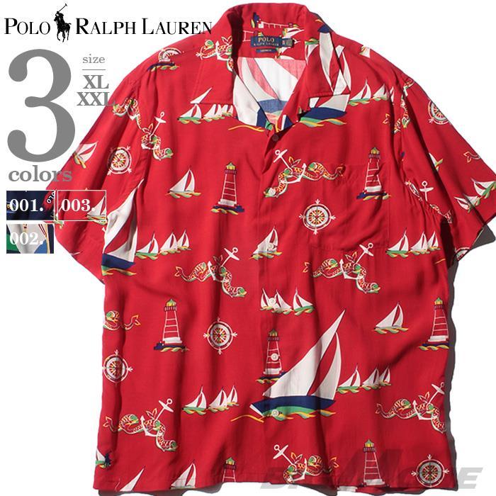 ブランドセール 大きいサイズ メンズ POLO RALPH LAUREN ポロ ラルフローレン 総柄 半袖 アロハ シャツ USA直輸入 710780216