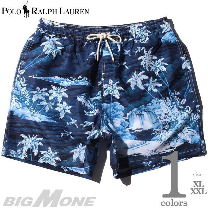 ブランドセール 大きいサイズ メンズ POLO RALPH LAUREN ポロ ラルフローレン 総柄 スイム ショート パンツ USA直輸入 710777331