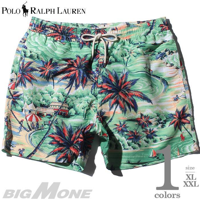 大きいサイズ メンズ POLO RALPH LAUREN ポロ ラルフローレン 総柄 スイム ショート パンツ USA直輸入 710777332