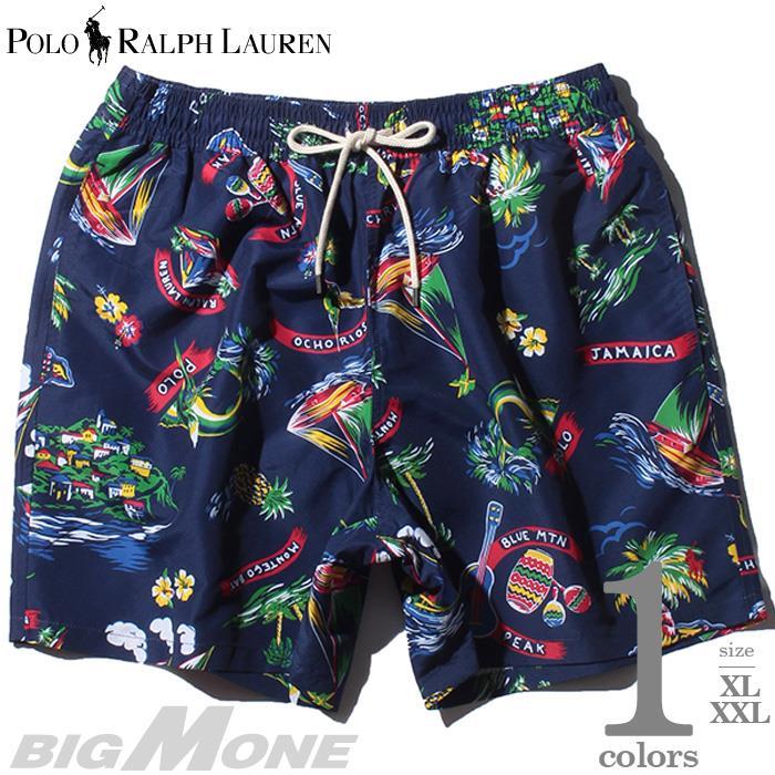 大きいサイズ メンズ POLO RALPH LAUREN ポロ ラルフローレン 総柄 スイム ショート パンツ USA直輸入 710777334
