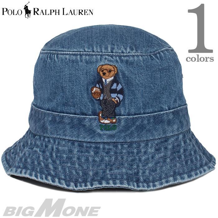 メンズ POLO RALPH LAUREN ポロ ラルフローレン ロゴ刺繍 デニム ハット 帽子 USA直輸入 710780291