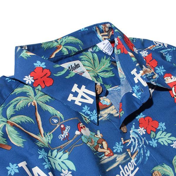 ブランドセール 大きいサイズ メンズ REYN SPOONER レインスプーナー プリント 半袖 アロハ シャツ ロサンゼルス ドジャース MLB LOS ANGELES DODGERS USA直輸入 b287112119