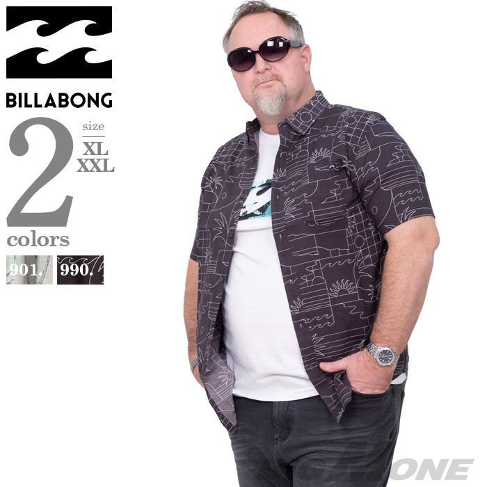 ブランドセール 大きいサイズ メンズ BILLABONG ビラボン 総柄 半袖 カジュアル シャツ USA直輸入 m5041bsf