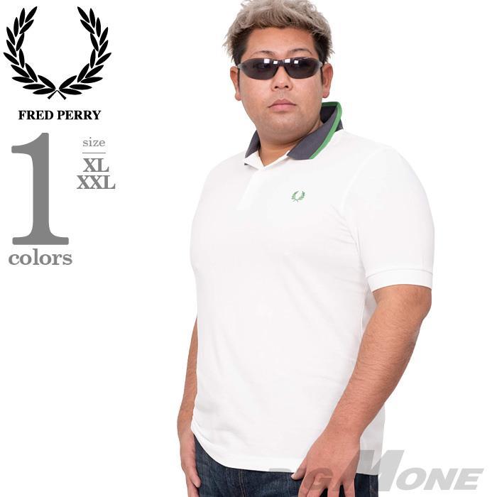 ブランドセール 大きいサイズ メンズ FRED PERRY フレッドペリー ロゴ刺繍 鹿の子 半袖 ポロシャツ USA直輸入 m7570