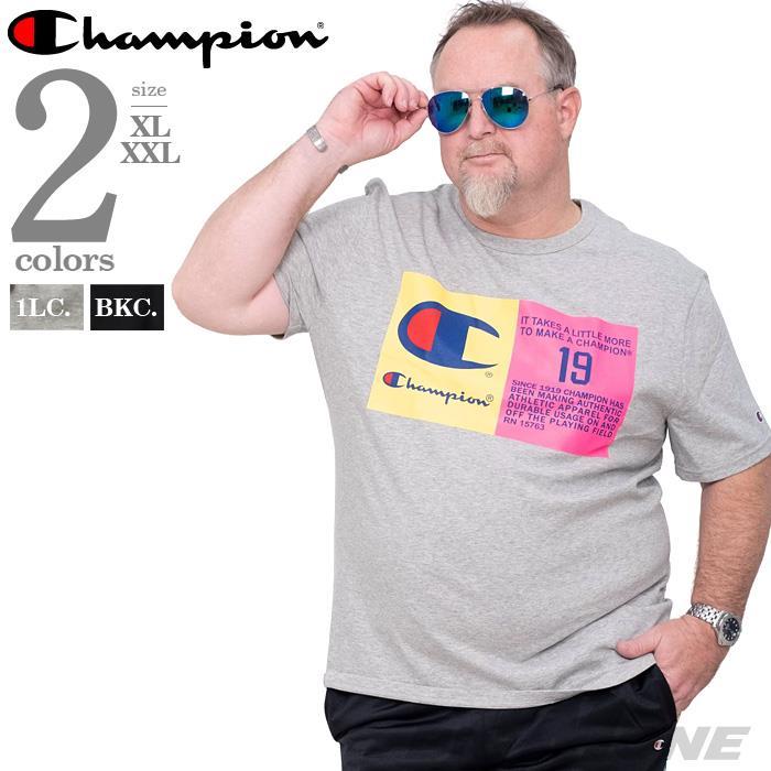 ブランドセール 大きいサイズ メンズ Champion チャンピオン ロゴ プリント 半袖 Tシャツ USA直輸入 t1919g
