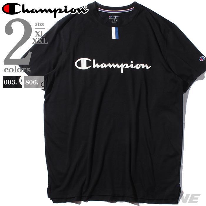 ブランドセール 大きいサイズ メンズ Champion チャンピオン ロゴ プリント 半袖 Tシャツ USA直輸入 t5059