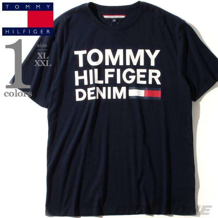 大きいサイズ メンズ TOMMY HILFIGER トミーヒルフィガー プリント 半袖 Tシャツ USA直輸入 78b8340