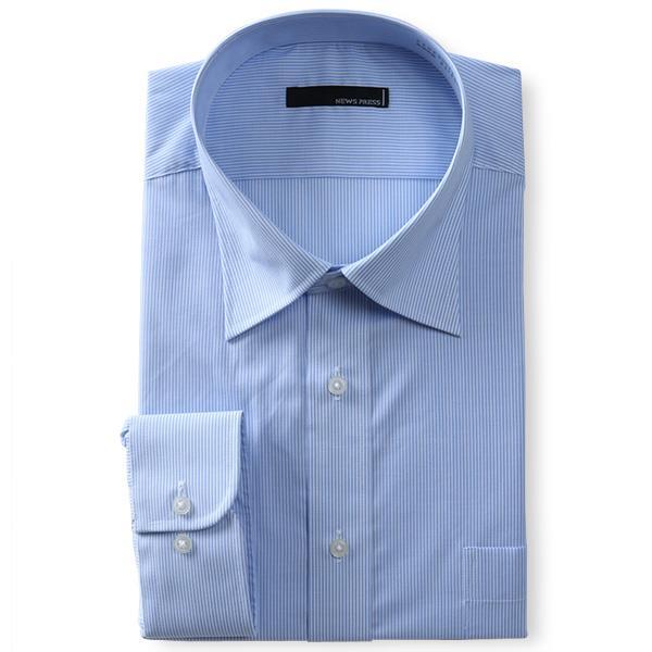 2点目半額 大きいサイズ メンズ NEWS PRESS 長袖 ワイシャツ セミワイドカラー レギュラー 形態安定 春夏新作 eanp90-21