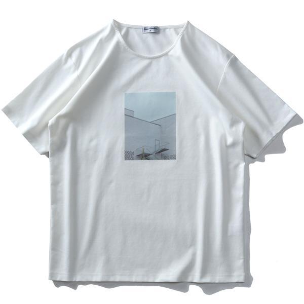 大きいサイズ メンズ LOUIS CHAVLON ルイシャブロン フォト プリント 半袖 Tシャツ 吸汗速乾 春夏新作 0260-1142
