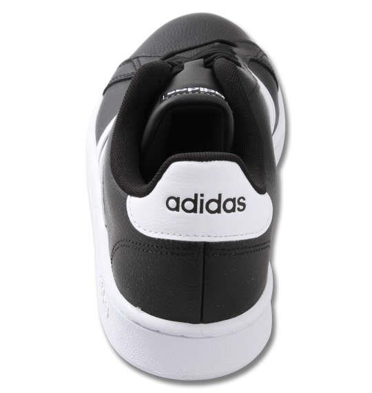 大きいサイズ メンズ adidas スニーカー GRANDCOURT LEA U コアブラック 1240-0264-2 29 30 31 32