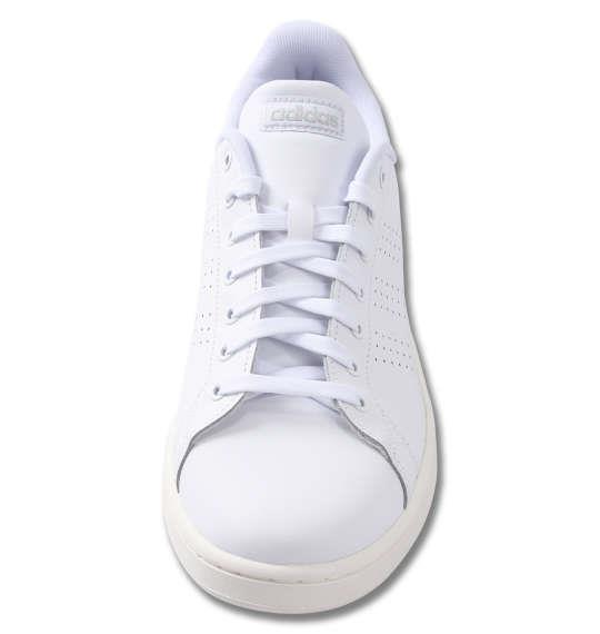 大きいサイズ メンズ adidas スニーカー ADVANCOURT LEA U フットウェアホワイト 1240-0265-1 29 30 31 32