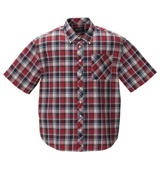大きいサイズ メンズ Mc.S.P チェック 半袖 シャツ ピンク × サックス 1257-0201-2 3L 4L 5L 6L 8L