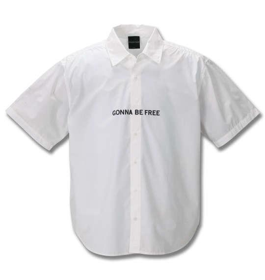 大きいサイズ メンズ MODISH GAZE ブロード 半袖 シャツ ホワイト 1257-0210-1 3L 4L 5L 6L