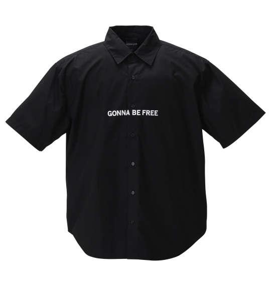 大きいサイズ メンズ MODISH GAZE ブロード 半袖 シャツ ブラック 1257-0210-2 3L 4L 5L 6L
