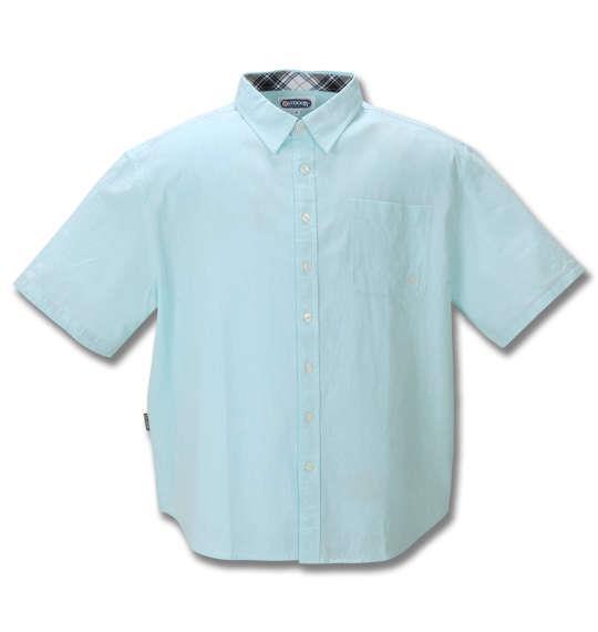 大きいサイズ メンズ OUTDOOR PRODUCTS 綿麻 ダンガリー 半袖 シャツ ミント 1257-0250-3 3L 4L 5L 6L 8L
