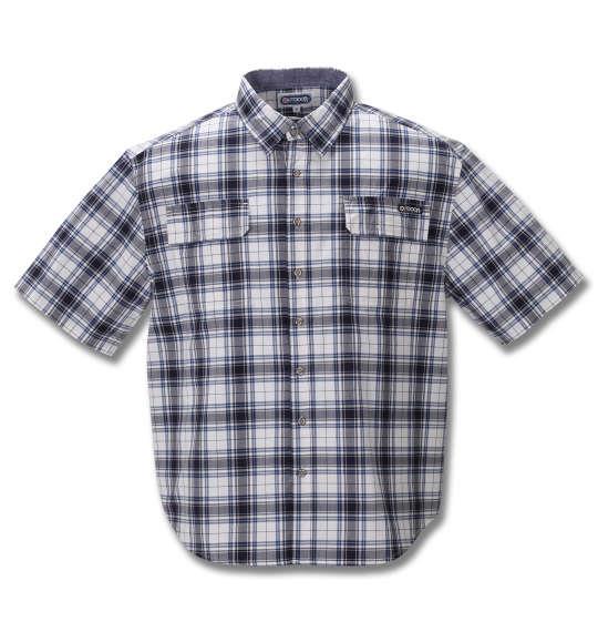 大きいサイズ メンズ OUTDOOR PRODUCTS リップストップ チェック 半袖 シャツ ネイビー 1257-0251-2 3L 4L 5L 6L 8L