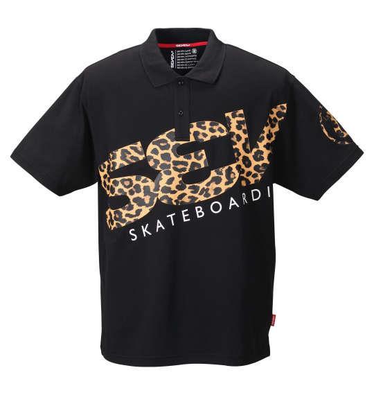 大きいサイズ メンズ SEVEN2 半袖 ポロシャツ ブラック 1268-0210-2 3L 4L 5L 6L