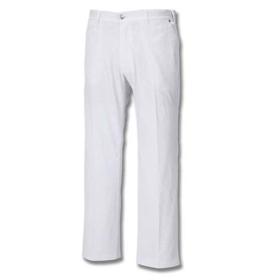 大きいサイズ メンズ FILA GOLF 飛び柄 エンボス ストレッチ ツイル パンツ ホワイト 1274-0200-1 100 105 110 115 120 130