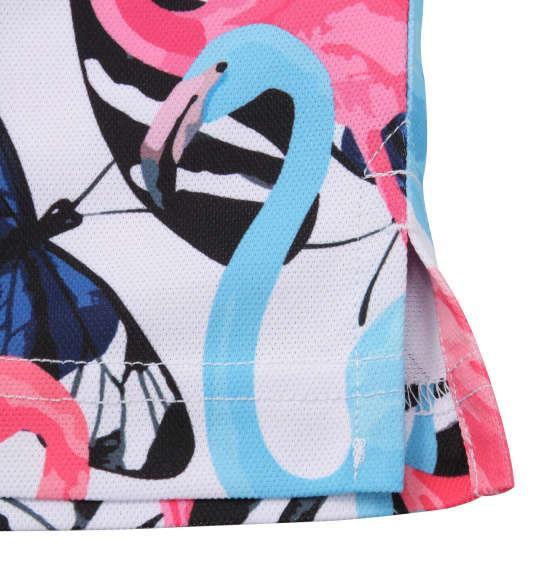 大きいサイズ メンズ LOUDMOUTH プレミアムカノコ 総柄 半袖 シャツ ブルーフラミンゴズ 1278-0225-3 3L 4L 5L 6L