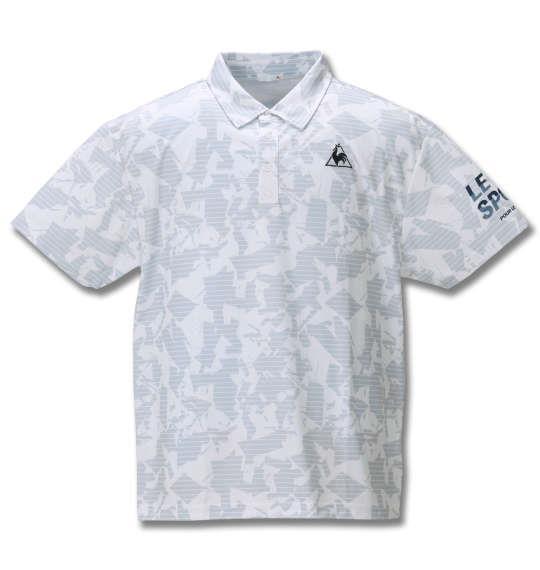 大きいサイズ メンズ LE COQ SPORTIF ポリエステル 鹿の子 半袖 ポロシャツ ホワイト 1278-0232-1 2L 3L 4L 5L 6L