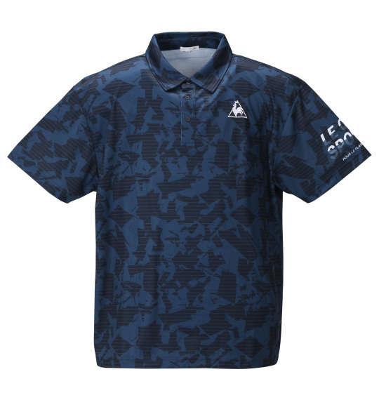 大きいサイズ メンズ LE COQ SPORTIF ポリエステル 鹿の子 半袖 ポロシャツ ネイビー 1278-0232-2 2L 3L 4L 5L 6L