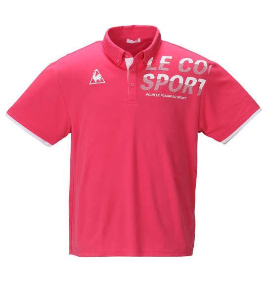 大きいサイズ メンズ LE COQ SPORTIF ドライ ピンメッシュ 半袖 ポロシャツ ローズドゥフォッション 1278-0233-1 2L 3L 4L 5L 6L