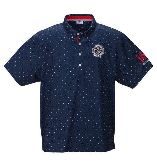 【golf1】大きいサイズ メンズ FILA GOLF ドット柄 半袖 ポロシャツ ネイビー 1278-0245-1 3L 4L 5L 6L