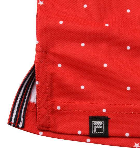 【golf1】大きいサイズ メンズ FILA GOLF ドット柄 半袖 ポロシャツ レッド 1278-0245-2 3L 4L 5L 6L