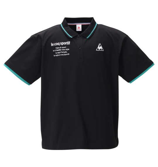 大きいサイズ メンズ LE COQ SPORTIF ソロテックス 鹿の子 半袖 ポロシャツ ブラック 1278-0234-2 2L 3L 4L 5L 6L