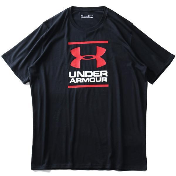 ブランドセール 大きいサイズ メンズ UNDER ARMOUR アンダーアーマー ロゴ プリント 半袖 Tシャツ USA直輸入 1326849