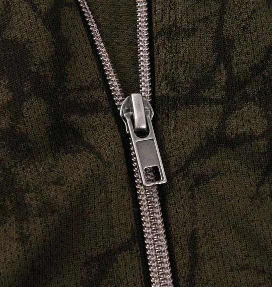 大きいサイズ メンズ RIMASTER メッシュクラック 総柄 半袖 ブルゾン + 半袖 Tシャツ カーキ × ブラック 1258-0252-2 3L 4L 5L 6L 8L