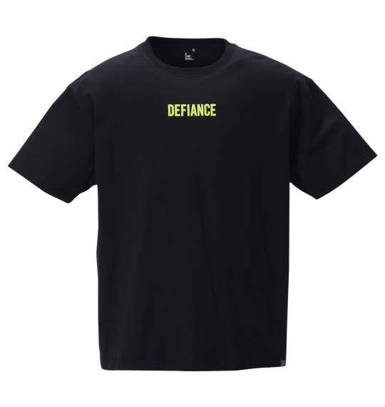 大きいサイズ メンズ b-one-soul バックビッグロゴ 半袖 Tシャツ ブラック 1258-0510-2 3L 4L 5L 6L