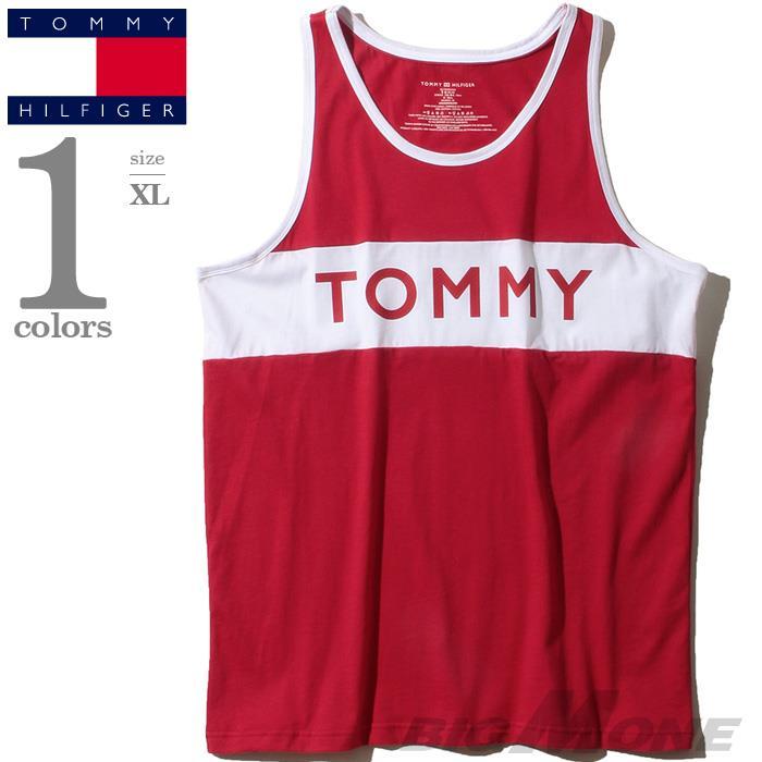 大きいサイズ メンズ TOMMY HILFIGER トミーヒルフィガー ロゴプリント タンクトップ USA直輸入 09t3547