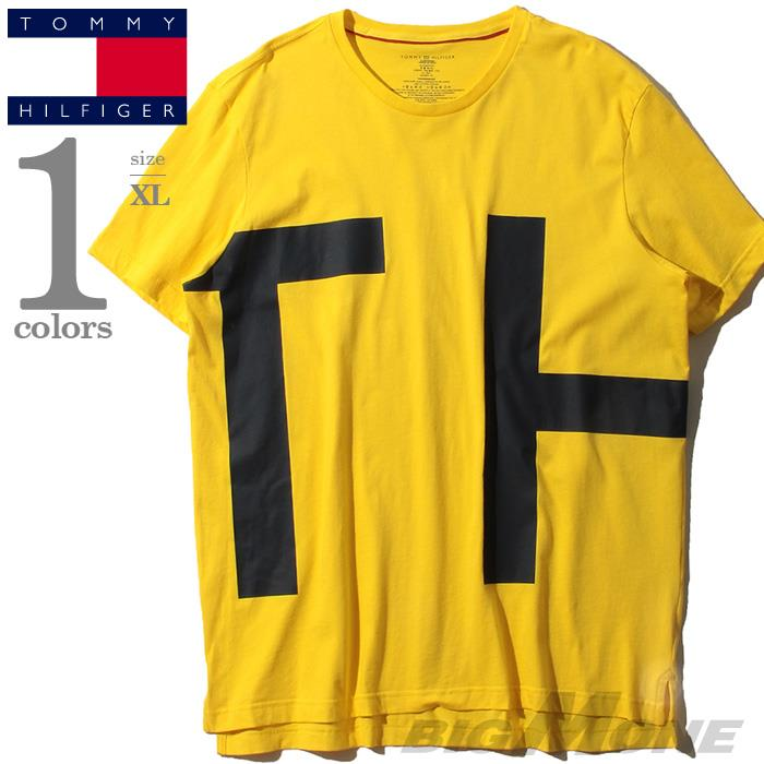 大きいサイズ メンズ TOMMY HILFIGER トミーヒルフィガー プリント 半袖 Tシャツ USA直輸入 09t3551