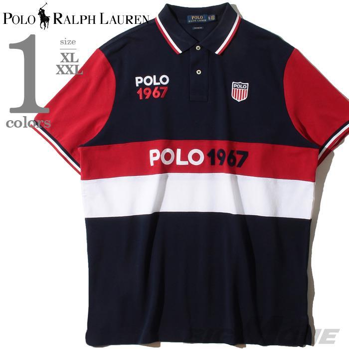 大きいサイズ メンズ POLO RALPH LAUREN ポロ ラルフローレン 半袖 デザイン 鹿の子 ポロシャツ USA直輸入 710781171