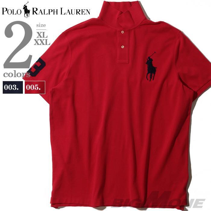 大きいサイズ メンズ POLO RALPH LAUREN ポロ ラルフローレン ビッグロゴ刺繍 鹿の子 半袖 ポロシャツ USA直輸入 710784003
