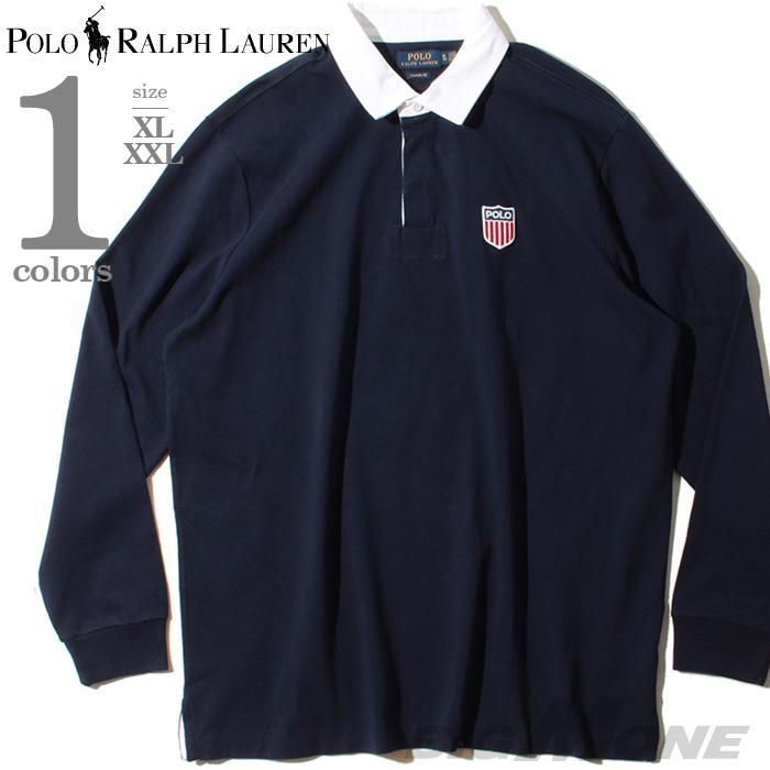 大きいサイズ メンズ POLO RALPH LAUREN ポロ ラルフローレン 長袖 ラガーシャツ ポロシャツ USA直輸入 710781173